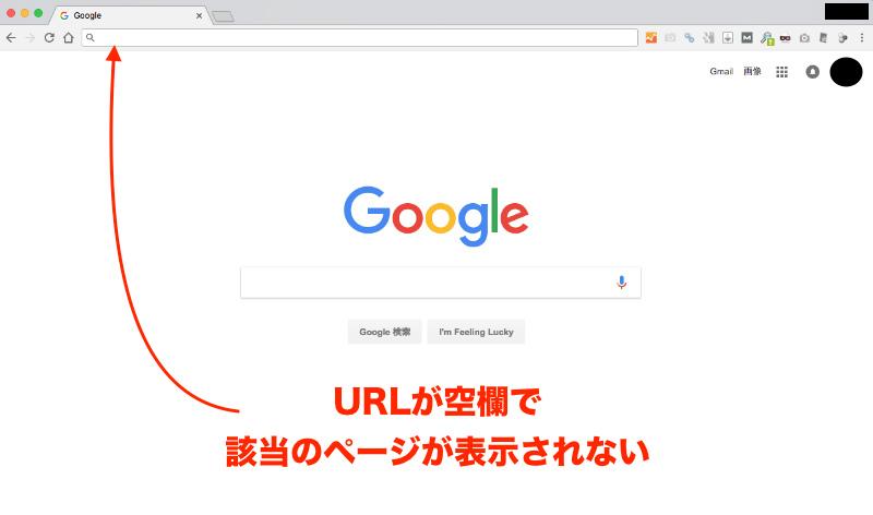 URLが空欄で表示されない