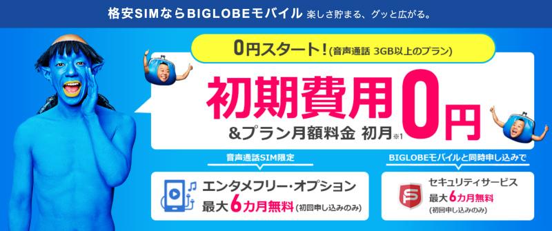 BIGLOBEモバイルでSH-M09を販売中