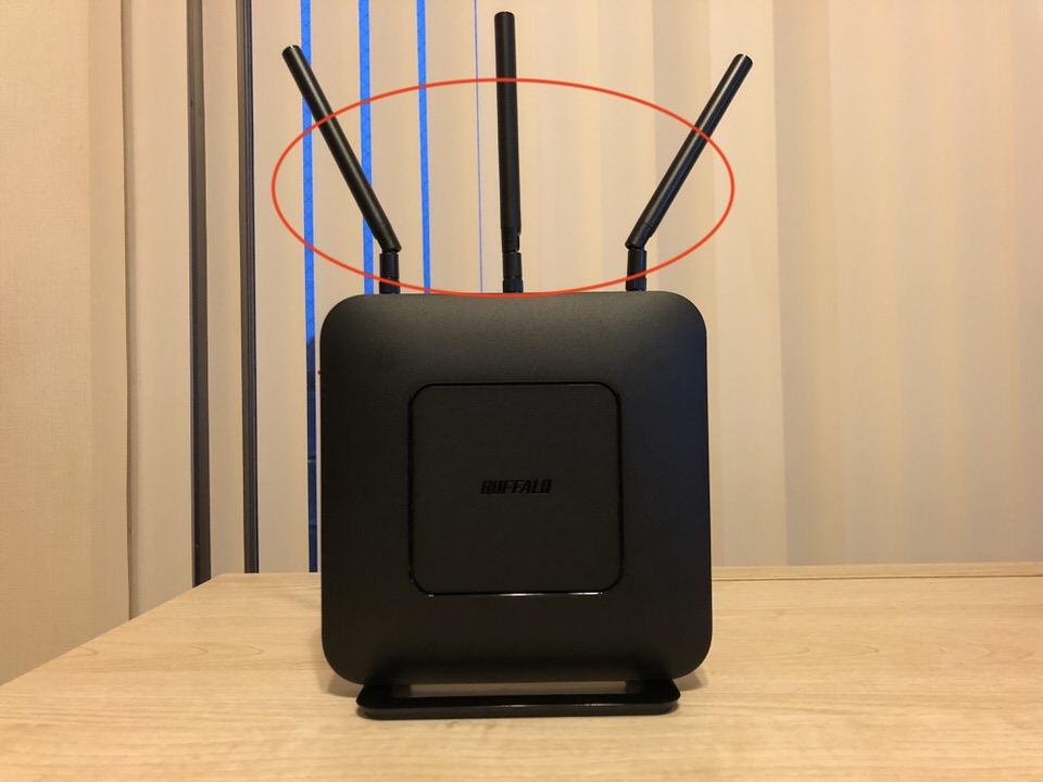 WiFiルーターのアンテナ