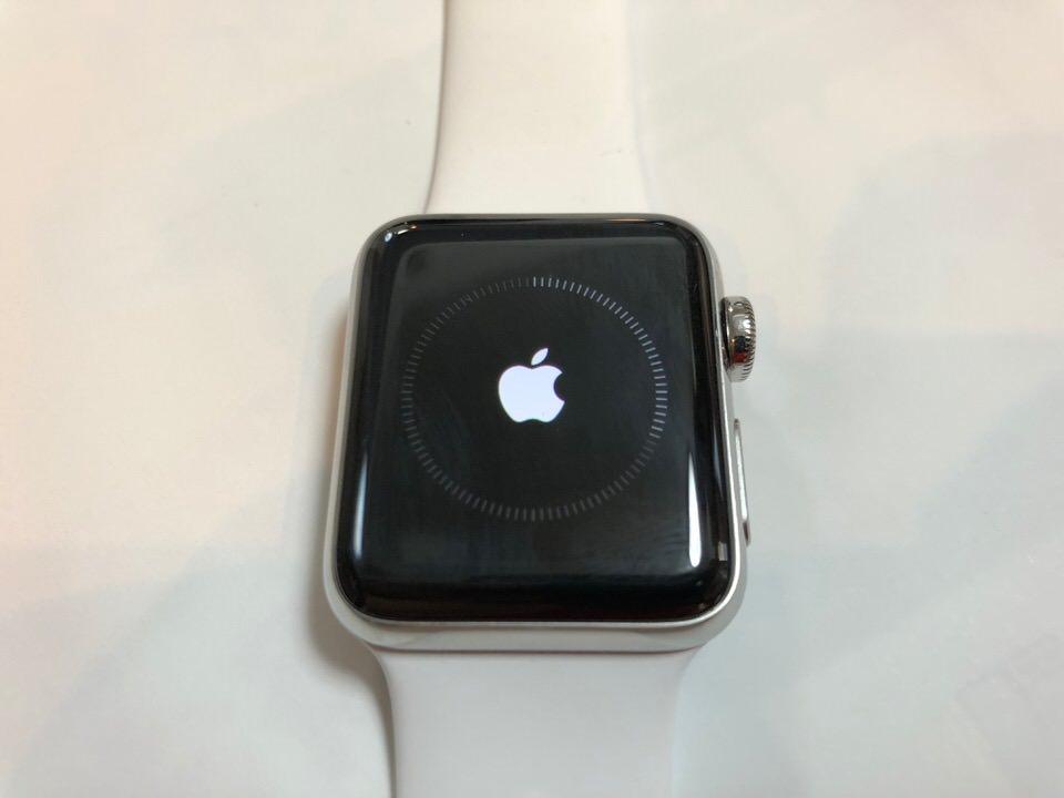 Apple Watchの初期化は時間がかかる
