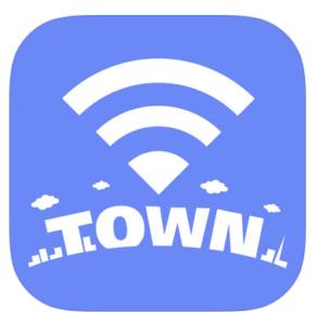 タウンwifiというアプリのロゴ
