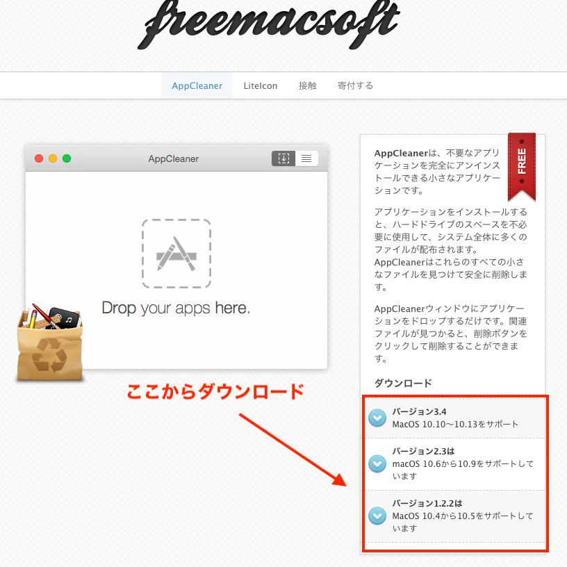 freemacsoftをダウンロード