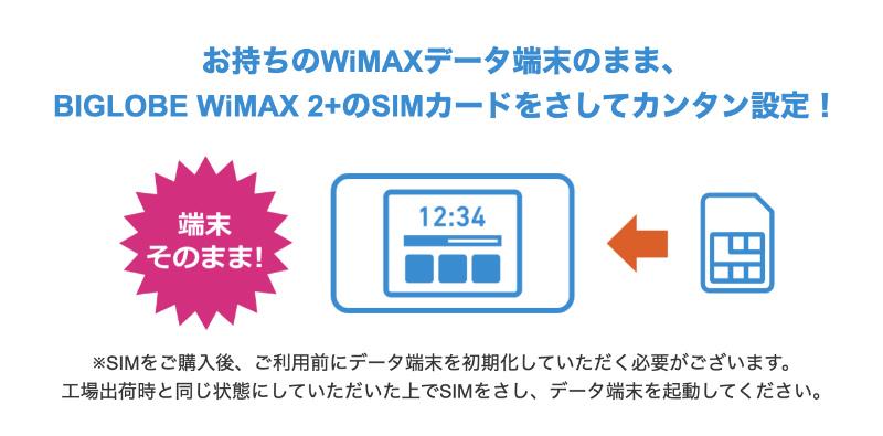 WiMAXをSIMのみで契約する手段