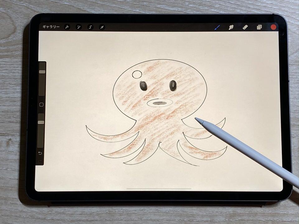 iPadとApple Pencilで絵を書く