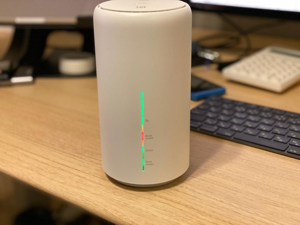 Speed Wi-Fi HOME L02の「Mode Update」ランプが赤点滅している時の対処