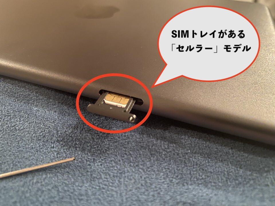 iPad単体でネットに接続できるセルラーモデル