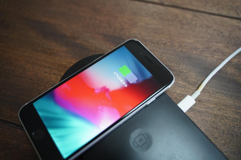 【ワイヤレス充電】iPhone SEのみが対応