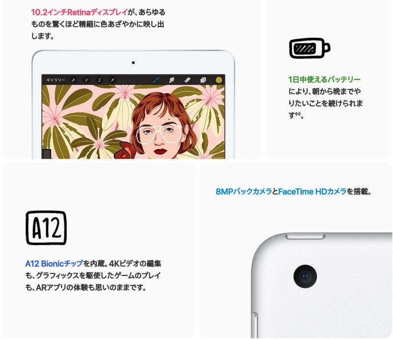 iPad 第8世代の概要と価格帯
